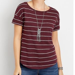 24/7 Drop Shoulder Tee from Maurices